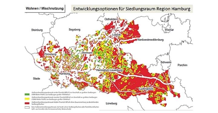 Räumliche Analysemethoden: Baulandpotenzialerfassung Hamburg