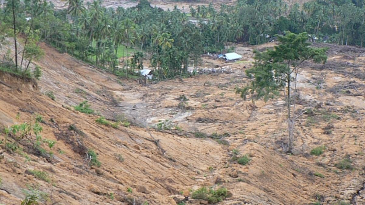 Naturgefahren: Erdrutsch nach Erdbeben